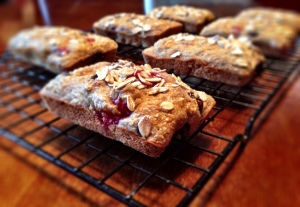 GF Banana Raspberry Chocolate Chip Bread