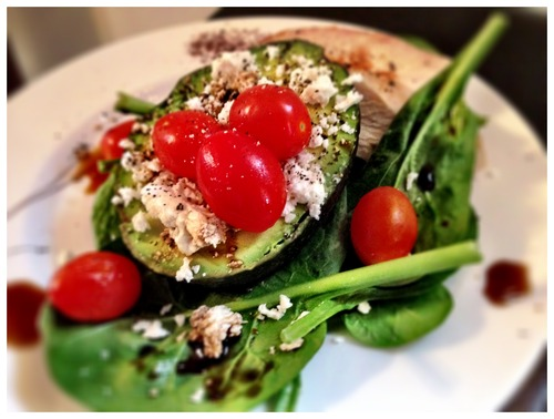 Feta Stuffed Avocado