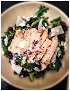Roasted Kale Chicken Salad