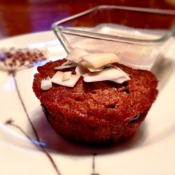 GF Carrot Muffins with Coconut Dip