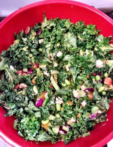 Light Asian Kale Salad w/Citrus Peanut Dressing