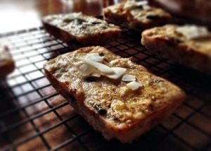 GF Flourless Coconut Banana Chocolate Chip Bread