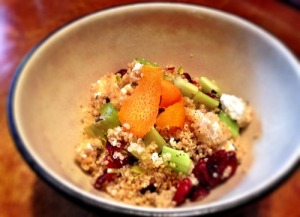 Cranberry, Orange and Goat Cheese Quinoa Salad