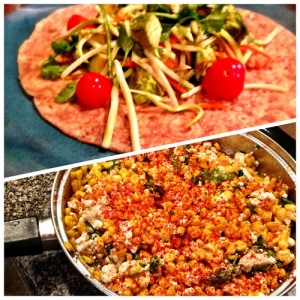 Lime Fish Tacos and Mexican Street Corn
