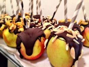 Chocolate Drizzled Apples