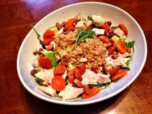 Quinoa, Apricot, & Arugula Salad