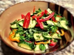 Summer Mediterranean Cucumber Herb Salad