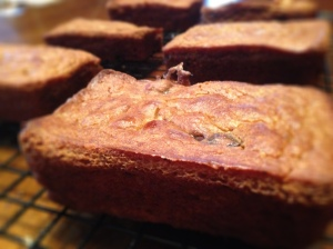 Paleo Banana Pumpkin Chocolate Chip Cranberry Bread