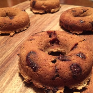 Paleo Pumpkin Spice Chocolate Chip Donuts