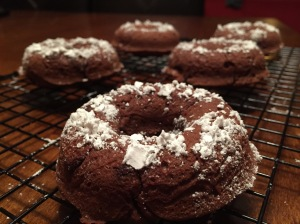 GF Chocolate Nutmeg Donuts