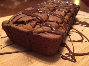 Paleo Pumpkin Chai Bread with Chocolate Coconut Drizzle