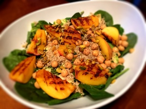 Grilled Peach Summer Salad with Orange Champagne Vinaigrette
